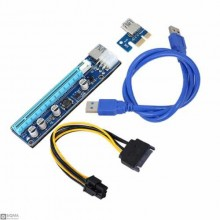 008C mining graphics card adapter cable PCI-E 1X to 16X graphics card extension cable with LED lights mining adapter plate