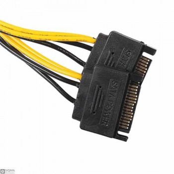 Dual SATA 15pin to 8pin PCI-E Power Supply Cable for vi