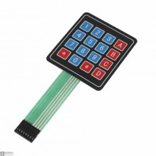 5 PCS 4x4 Flat Matrix Keypad Module [16 Channel] [8 Pin]