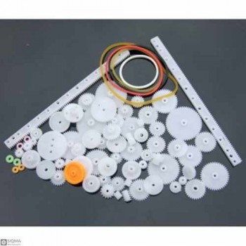 Plastic Gears And Pulleys Pack [ 75 Pieces ]
