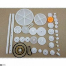 Plastic Gears And Pulleys Pack [34 Pieces]