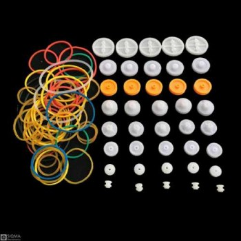 Plastic Pulley And Belts Pack [84 Pieces]