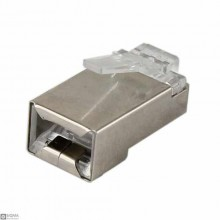 100 PCS Shielded RJ45 Mail Connector