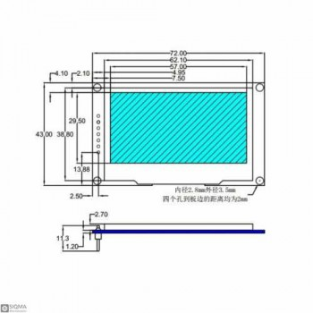 2.42 OLED Display Board [2.42 inch] [128x64 Pixel]