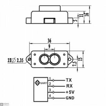 TF Mini LiDAR Distance Sensor Module [4.5V-6V] [30cm-1200cm]