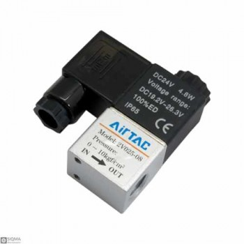 Air TAC 2V025-08 Pneumatic Solenoid Fluid Control Valve [24V]