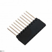 100 PCS 1X10 Straight Long Female 2.54mm Pin Header