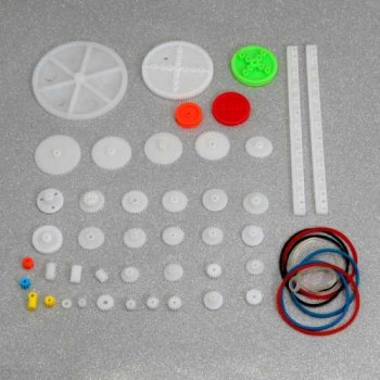 Plastic Gears And Pulleys Pack [43 Pieces]