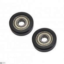 10 PCS 608 Rubber Bearing Wheel
