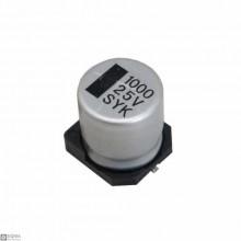 5 PCS SMD Electrolytic Capacitor [1000uF] [25V]